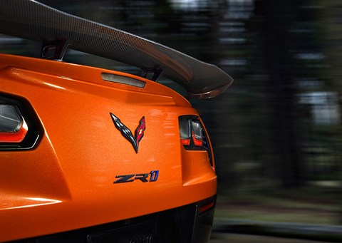 Note the new High Wing option for extra downforce on 2019 Corvette ZR1