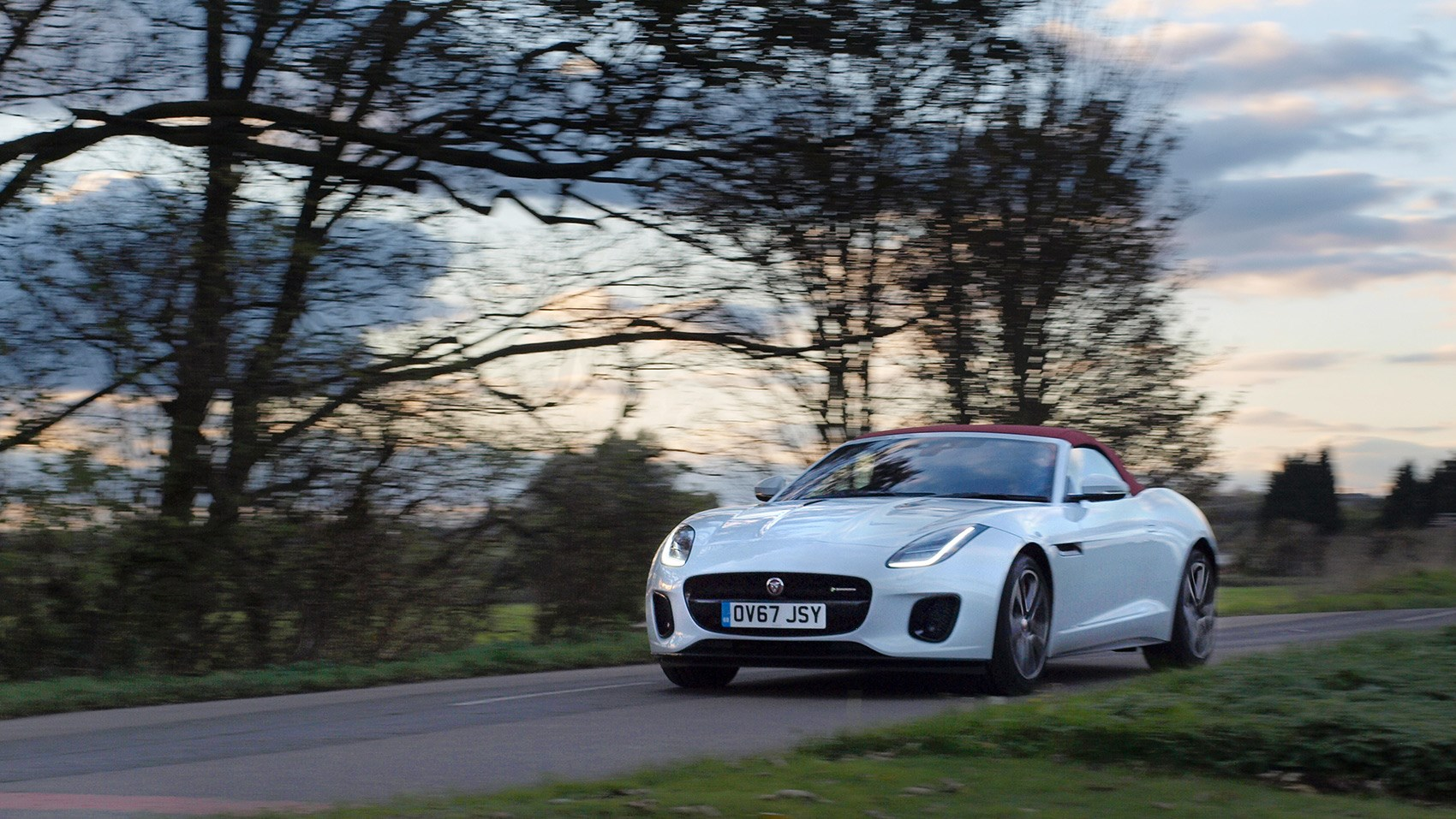 Jaguar F-type Convertible roof up