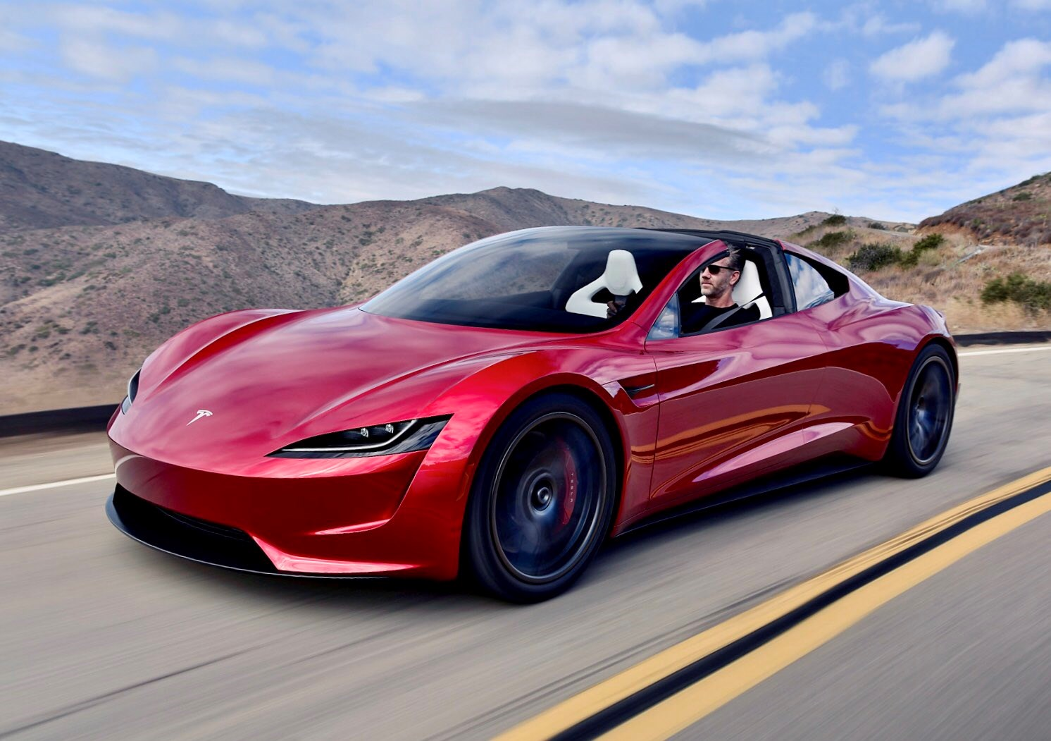 New tesla roadster electric hypercar spotted on the road for Tesla motors car price