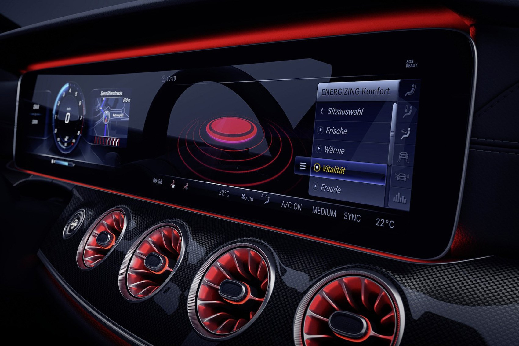 Mercedes-Benz E-Class: Automatic interior lighting control
