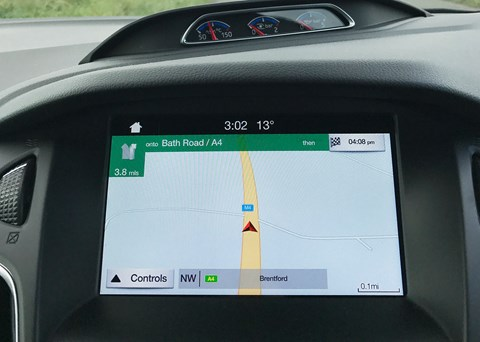 Ford Focus RS Sync 3 infotainment: not the best