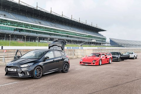 Ford Focus RS meets some Ferrari supercar royalty