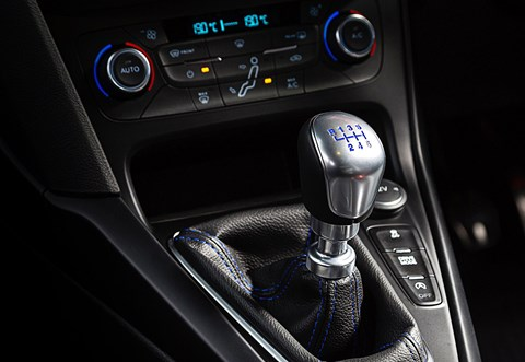 Six-speed manual gearbox in our Ford Focus RS hot hatch