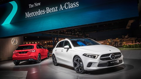 The new Mercedes-Benz A-class at its world debut