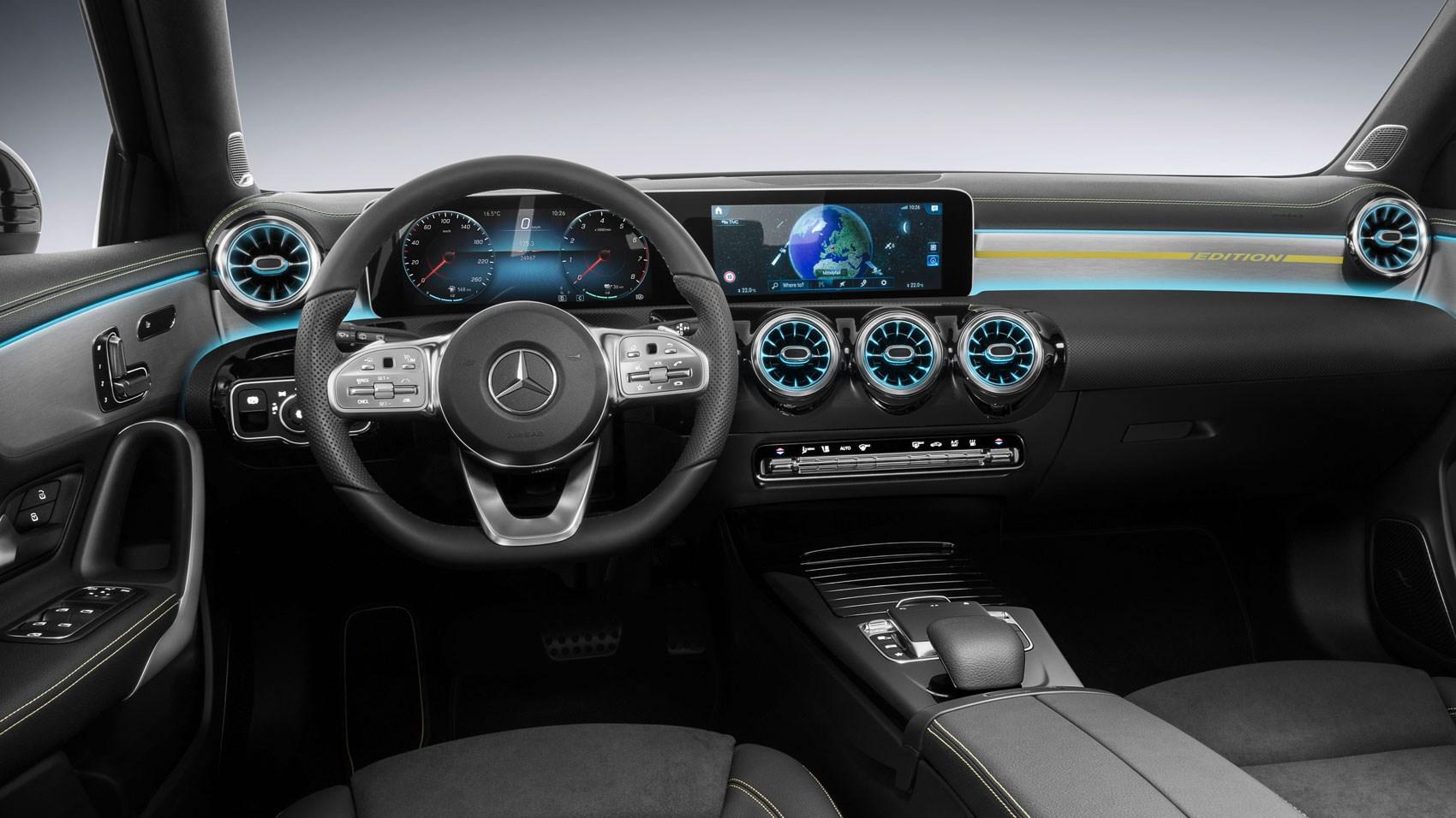 New mercedes a class sedan version revealed car magazine for New interior