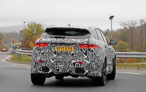 Jaguar F-Pace SVR: the new 2018 one scooped