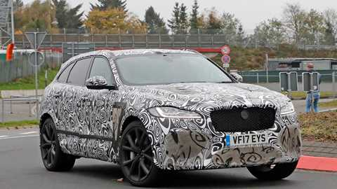 The New 2018 Jaguar F Pace Svr Car S Spy Photos