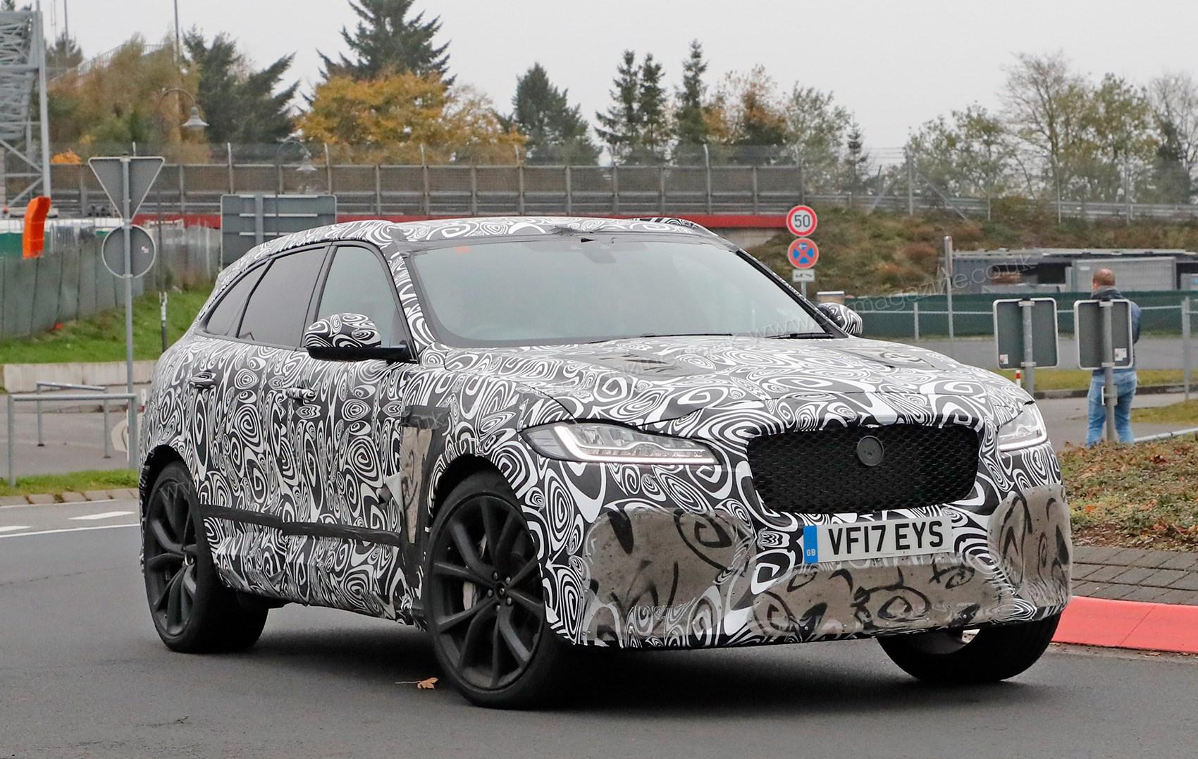 The New 2018 Jaguar F Pace Svr Car S Spy Photos