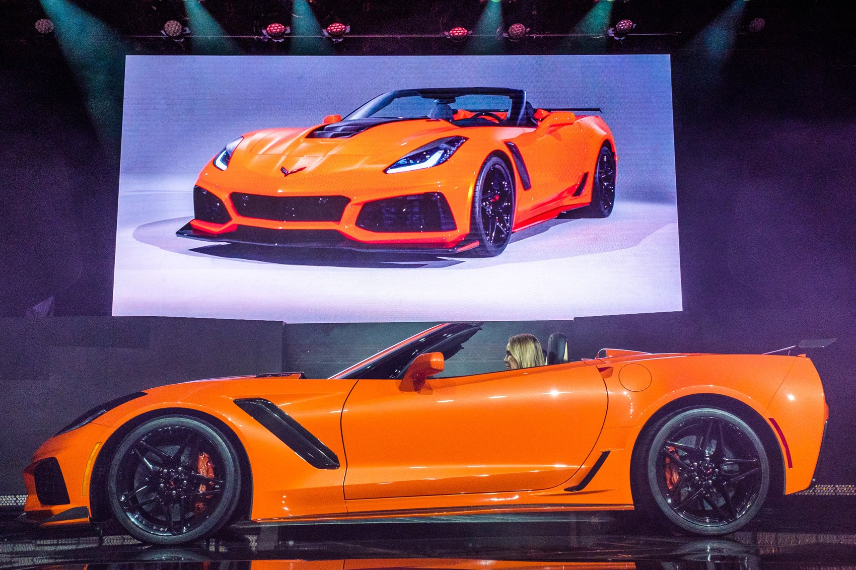 Extreme machine convertible Corvette ZR1 takes the stage
