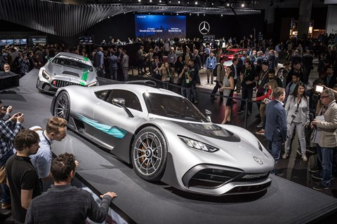 Mercedes-AMG Project One leads the GT4 racer