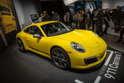 New Porsche 911 Carrera T at the LA motor show