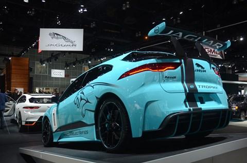 Jaguar i-Pace twins at the 2017 LA motor show