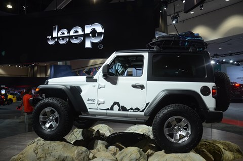The new 2018 Jeep Wrangler, unveiled at the 2017 LA show