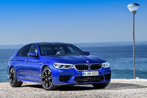 BMW M5 front quarter blue