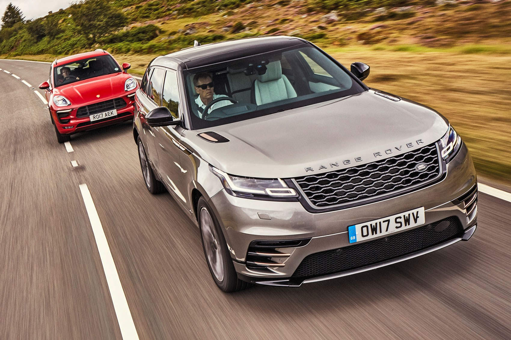 Range Rover Matte Black >> Range Rover Velar vs Porsche Macan GTS (2017) twin test review by CAR Magazine