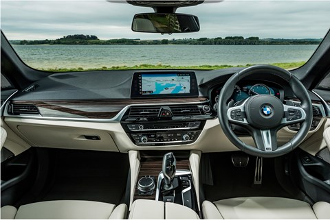 BMW 5-series Touring interior: top cabin quality, but hardly exciting