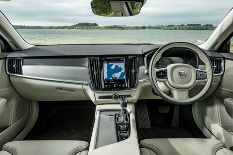 Volvo V90 interior, photographed for CAR magazine by Alex Tapley