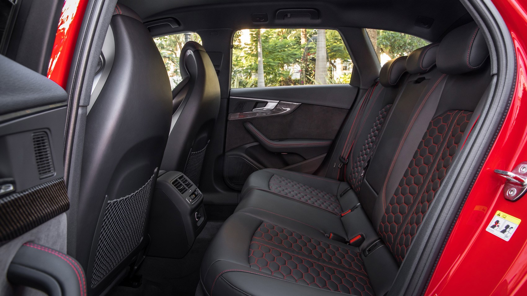Rear seats in the new 2018 Audi RS4 Avant