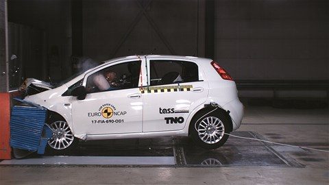 Fiat Punto: zero stars in 2017 Euro NCAP crash test