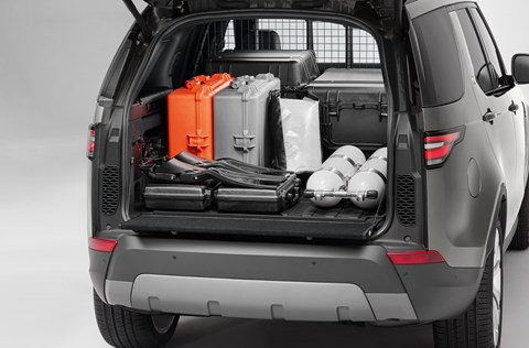 Land Rover Discovery Commercial van: the loadbay