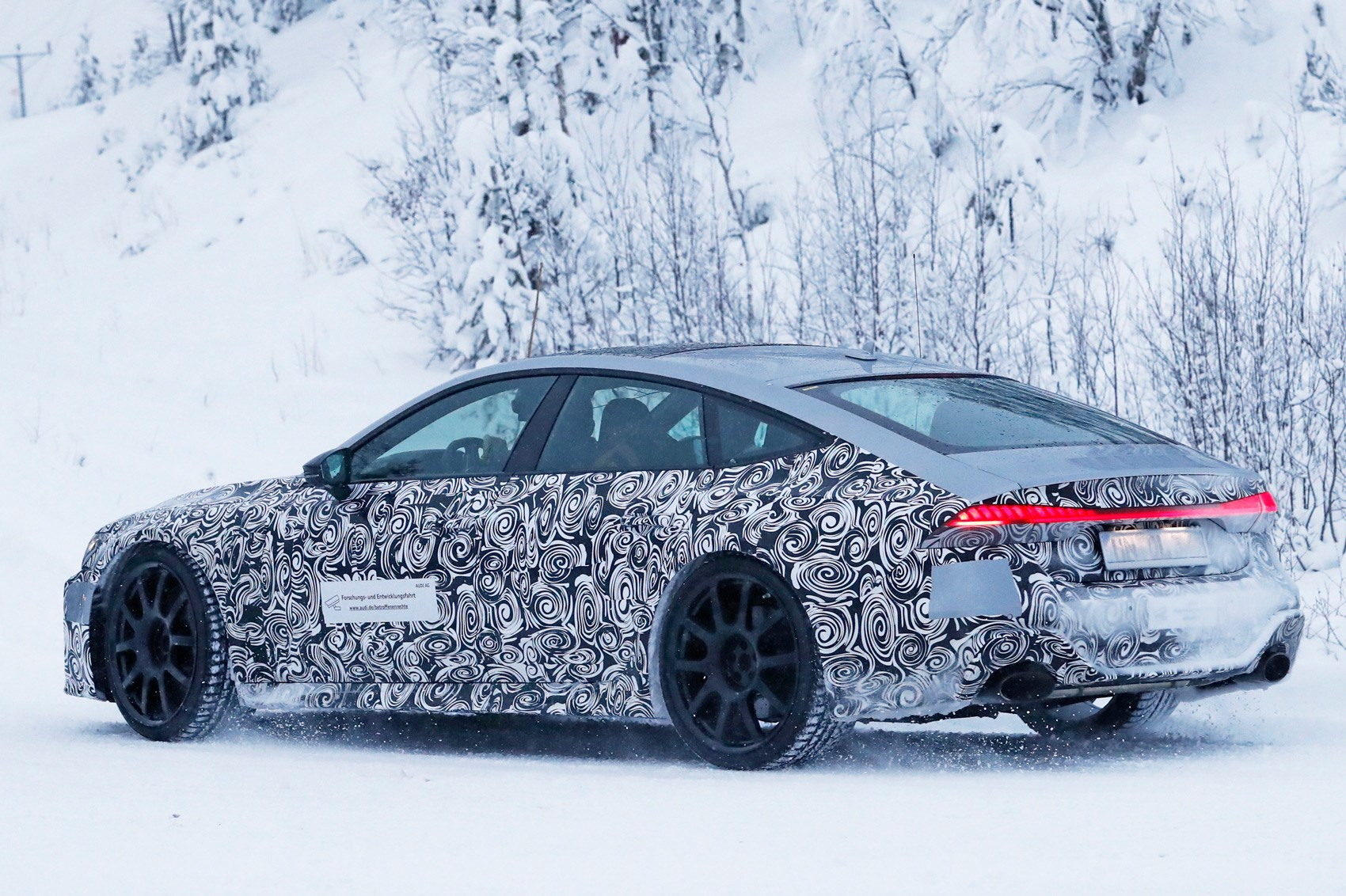 Audi Rs7 2019 Spy Shots Brute In A Suit Gets Snowy Car Magazine
