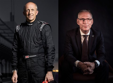 Chris Goodwin (left) and Simone Rizzuto (right): two high-profile recruits for Aston Martin