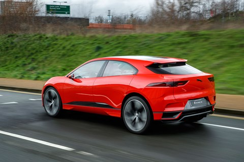 Jaguar I-Pace red rear tracking