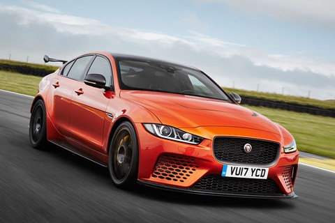 Jaguar XE SV Project 8 front trackinh