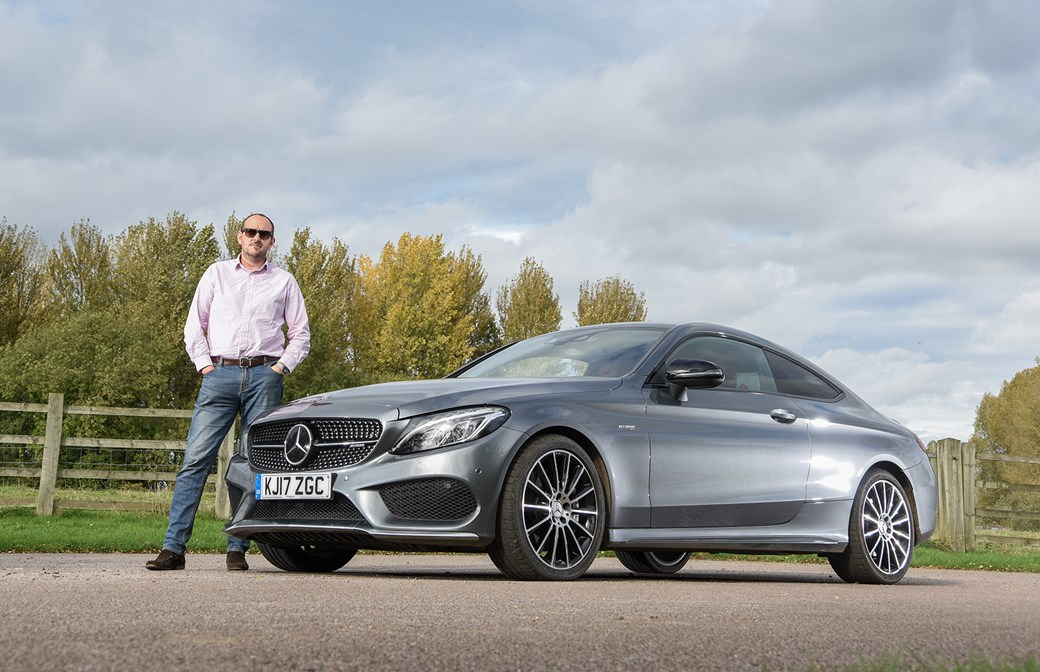 CAR magazine's Steve Moody and our Mercedes-AMG C43 Coupe