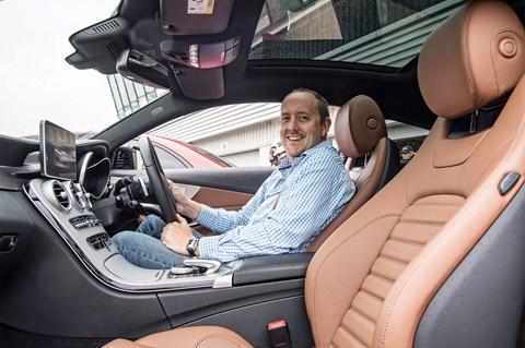 Mercedes-AMG C43 sitting inside