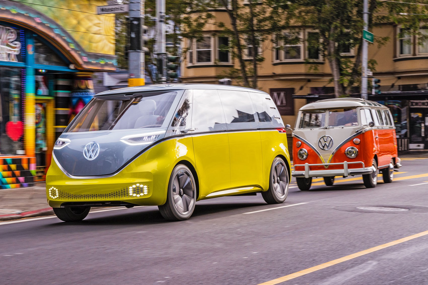 Vw Id Buzz Vs Vw Microbus Old Vs New Twin Test Review