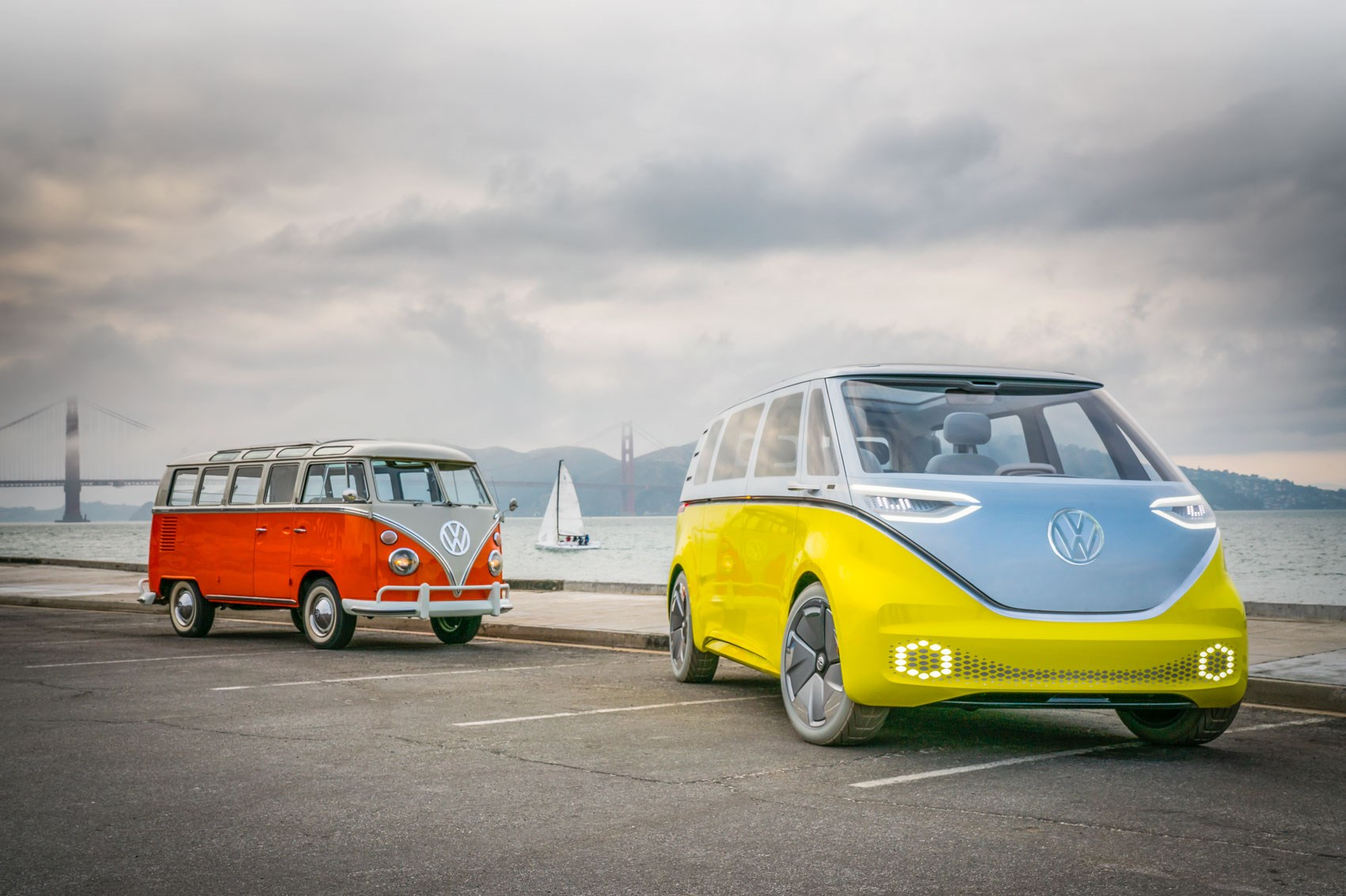 VW ID Buzz vs VW Microbus old vs new twin test review by CAR Magazine