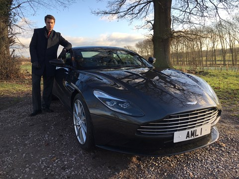 Aston Martin DB11 and Phil's friend James