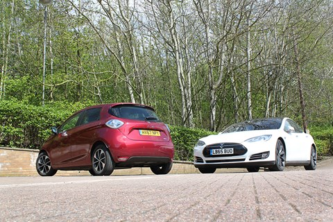 Tesla Model S and Renault Zoe comparison
