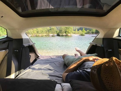 Living the dream: how to turn your Tesla into a camper van!