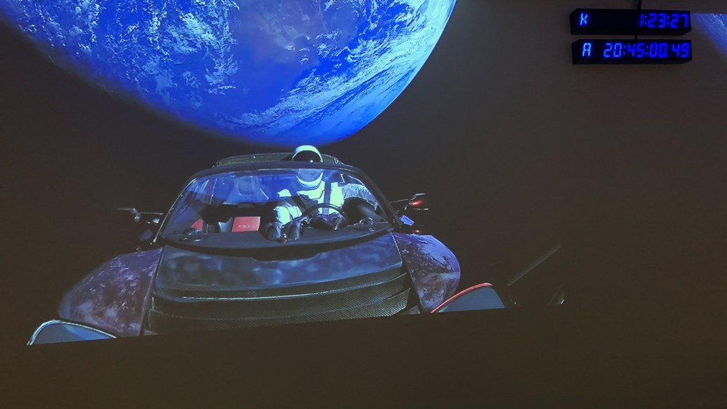 Blast-off! Tesla Roadster successfully goes in to orbit