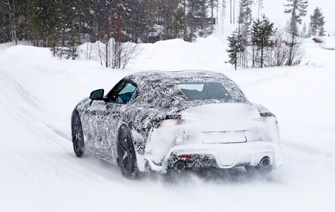 Toyota Supra: the new 2019 sports car's double-bubble roof