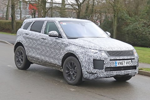 Spy photos of new 2019 Range Rover Evoque hybrid: specs, prices and on-sale date of 2019