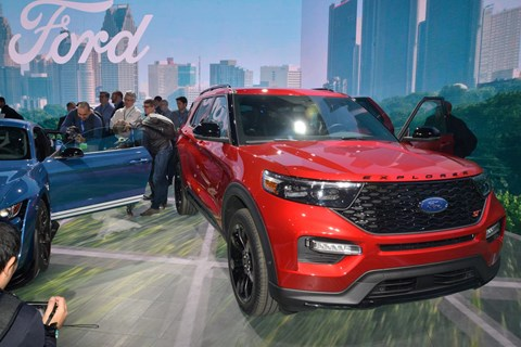 Ford Explorer at the 2019 Detroit motor show