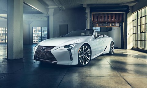 Lexus LC Convertible Concept at the 2019 Detroit auto show