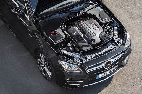 The new AMG 53's 3.0-litre straight six breathed on by twin turbos and EQ Boost