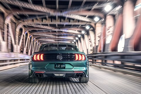 Mustang Bullitt rear tracking