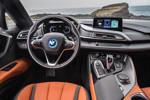 New 2018 BMW Coupe interior and iDrive touchscreen