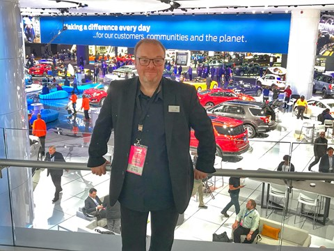 CAR's Keith Adams on the show floor at the 2018 Detroit motor show