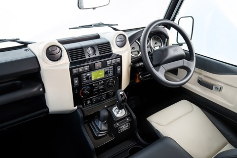 Interior of Land Rover Defender Works V8