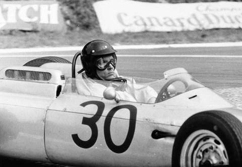 Dan Gurney driving the Porsche 804 F1 car at Rouen in 1962