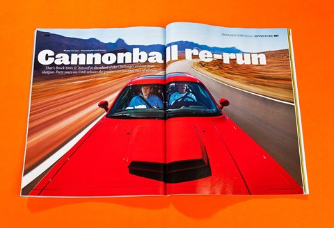 CAR magazine recreated the Cannonball Run with Brock Yates Jr in 2011