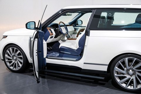 Range Rover SV Coupe interior shot
