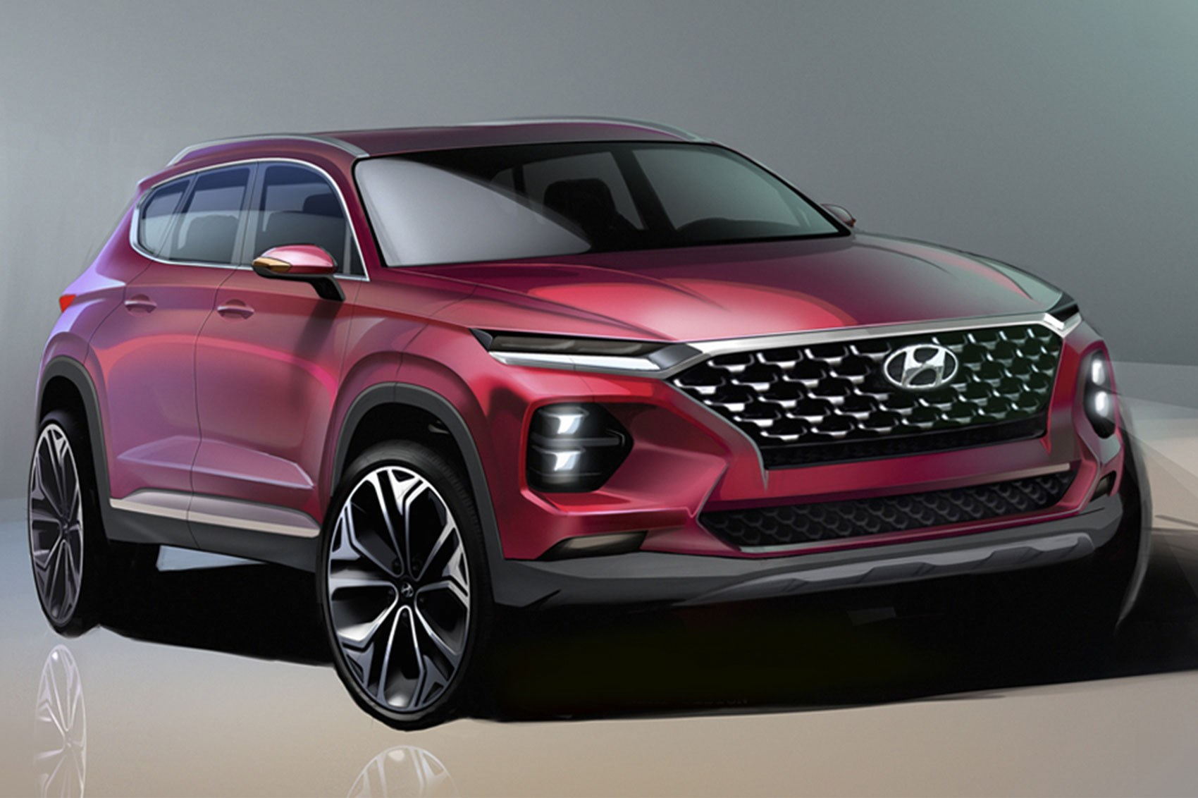 new hyundai santa fe suv everything we know so far car. Black Bedroom Furniture Sets. Home Design Ideas