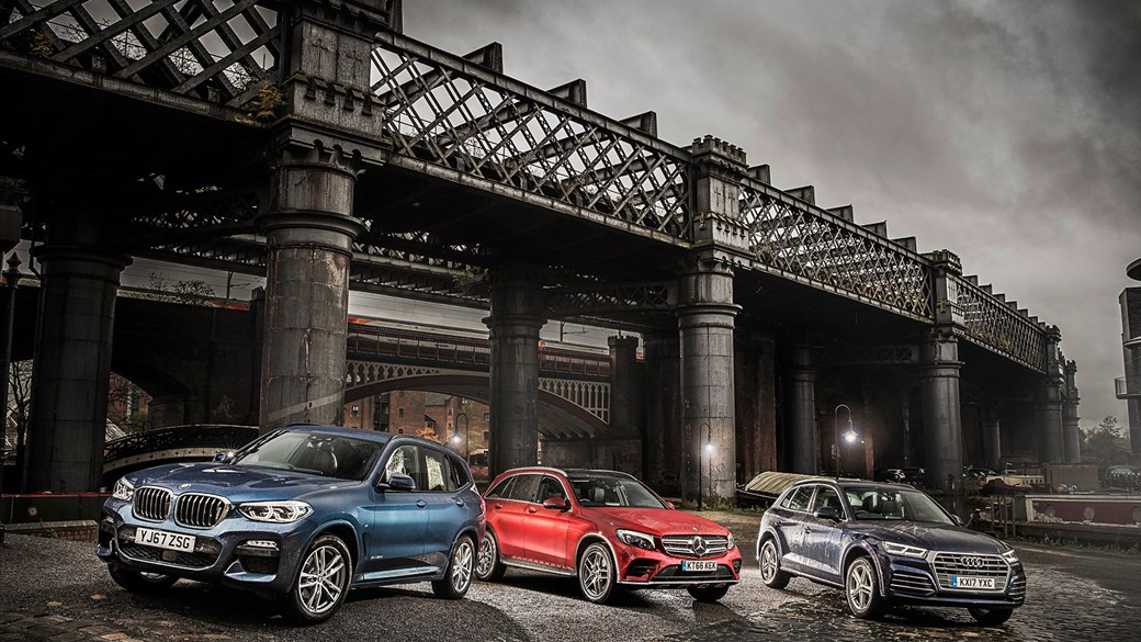 Gathered In Manchester Britain S Smartest Compact Suvs Bmw X3 Vs Audi Q5 Mercedes